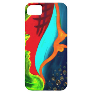 Drippy abstract shapes iPhone 5 case