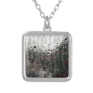 Drips and Drops Silver Plated Necklace