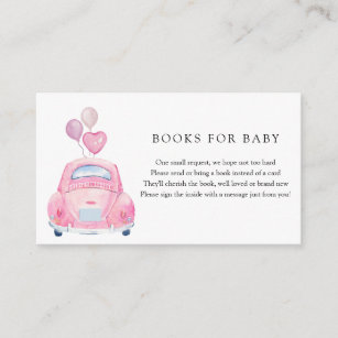 Drive By Baby Shower Enclosure Card