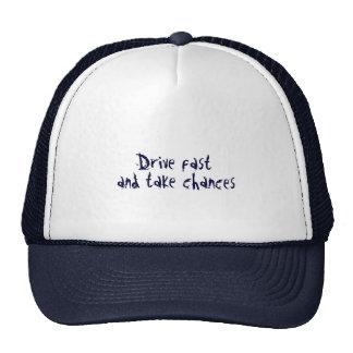 Drive fast trucker hat