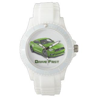 """Drive Fast"" watch"