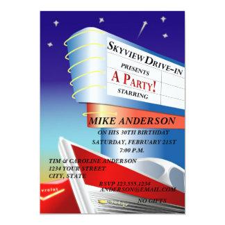 Drive-In Movie Theme Invitation