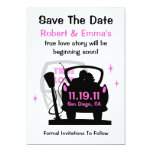 Drive In Newlyweds Save The Date Announcement