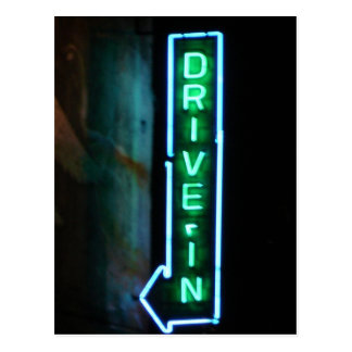 Drive-In Postcard