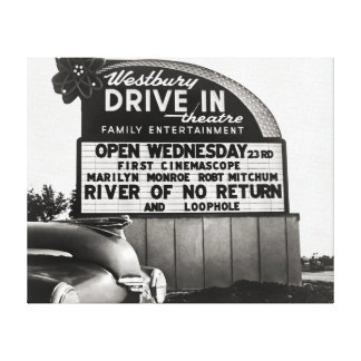 Drive-In Theater, 1954 Gallery Wrap Canvas