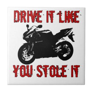 Drive it like you stole it - Japanese Bike Tile