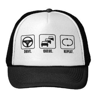 Drive. Queue. Repeat. Mesh Hat