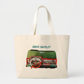 Drive Safely! Nostalgic Toy Dashboard Pic Jumbo Tote Bag