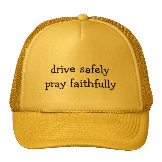 Drive Safely, Pray Faithfully Trucker Hat