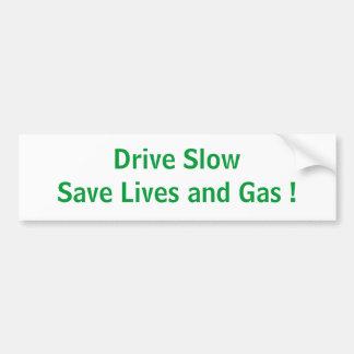 Drive Slow Bumper Sticker