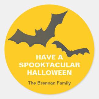 Drive you batty custom Halloween yellow gift tag