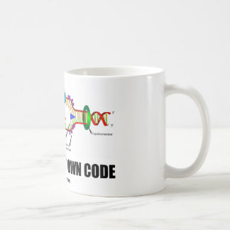 Driven By My Own Code (DNA Replication) Coffee Mug