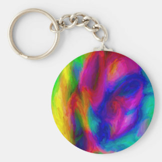 Driven to Abstraction Basic Round Button Keychain