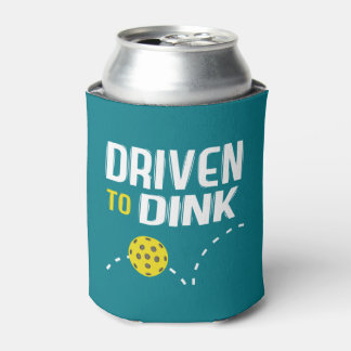 """""""Driven to Dink"""" Pickleball Can Cooler"""
