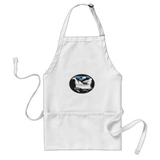 Driver Looking Up Mountain Car Windshield Oval Woo Standard Apron