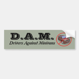 Drivers Against Minivans Bumper Sticker
