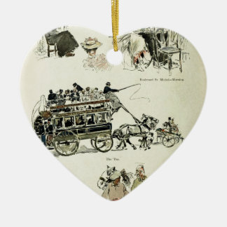 Drivers Ceramic Heart Ornament