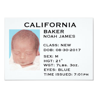 """Driver's License"" Baby Announcement"