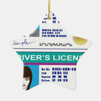 Driver's License Ceramic Ornament
