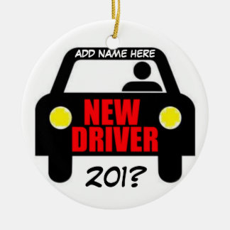 Drivers Training Keepsake Round Ceramic Ornament