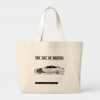 Driving Art Sedan Car Jumbo Tote Bag
