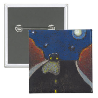 Driving at night fun unique art landscape drawing pin