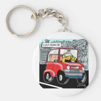 Driving Cartoon 9308 Keychain