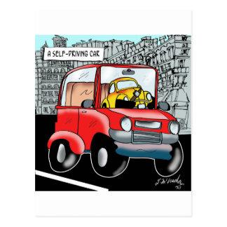Driving Cartoon 9308 Postcard