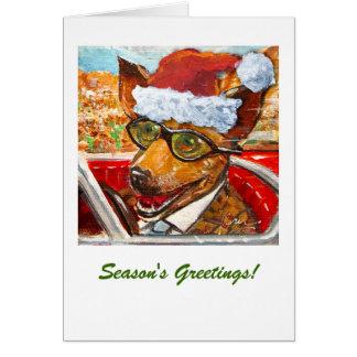 Driving Chihuahua Holiday Greeting Card