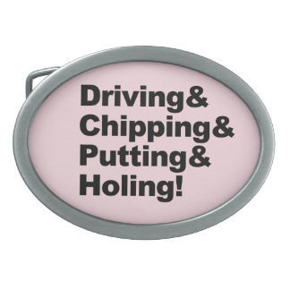 Driving&Chipping&Putting&Holing (blk) Belt Buckle