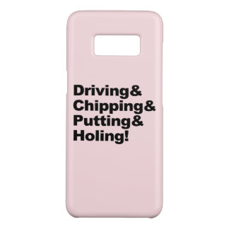Driving&Chipping&Putting&Holing (blk) Case-Mate Samsung Galaxy S8 Case