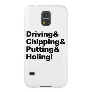 Driving&Chipping&Putting&Holing (blk) Cases For Galaxy S5
