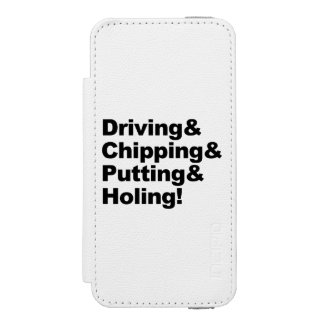 Driving&Chipping&Putting&Holing (blk) Incipio Watson™ iPhone 5 Wallet Case