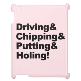 Driving&Chipping&Putting&Holing (blk) iPad Covers