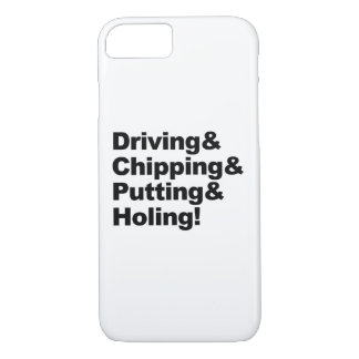 Driving&Chipping&Putting&Holing (blk) iPhone 8/7 Case
