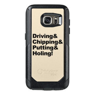 Driving&Chipping&Putting&Holing (blk) OtterBox Samsung Galaxy S7 Case