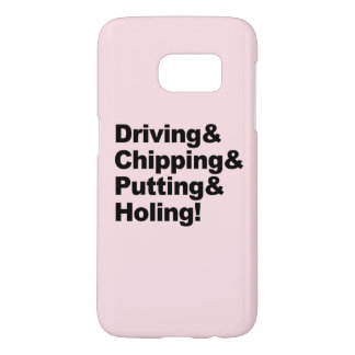 Driving&Chipping&Putting&Holing (blk) Samsung Galaxy S7 Case
