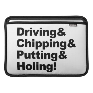 Driving&Chipping&Putting&Holing (blk) Sleeve For MacBook Air