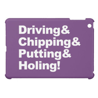 Driving&Chipping&Putting&Holing (wht) iPad Mini Cover
