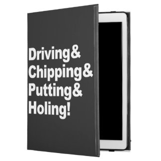 """Driving&Chipping&Putting&Holing (wht) iPad Pro 12.9"""" Case"""