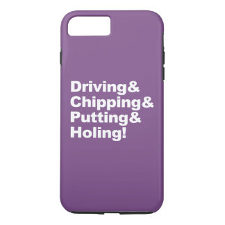 Driving&Chipping&Putting&Holing (wht) iPhone 8 Plus/7 Plus Case