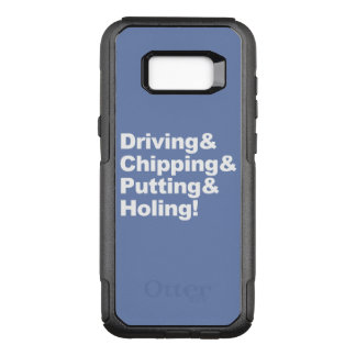 Driving&Chipping&Putting&Holing (wht) OtterBox Commuter Samsung Galaxy S8+ Case