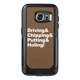 Driving&Chipping&Putting&Holing (wht) OtterBox Samsung Galaxy S7 Case