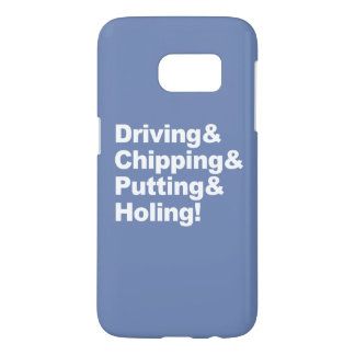 Driving&Chipping&Putting&Holing (wht) Samsung Galaxy S7 Case