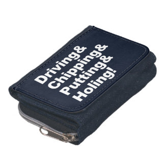 Driving&Chipping&Putting&Holing (wht) Wallet
