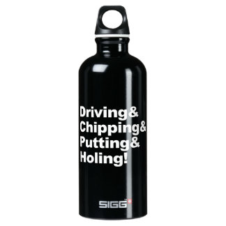 Driving&Chipping&Putting&Holing (wht) Water Bottle