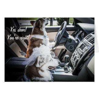 Driving Corgis Anniversary Card