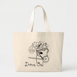 Driving Curly Horse Jumbo Tote Bag