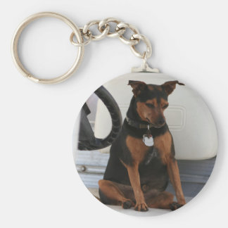 Driving Dog keychain