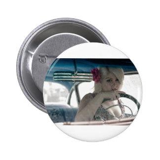 Driving Doris 2 Inch Round Button